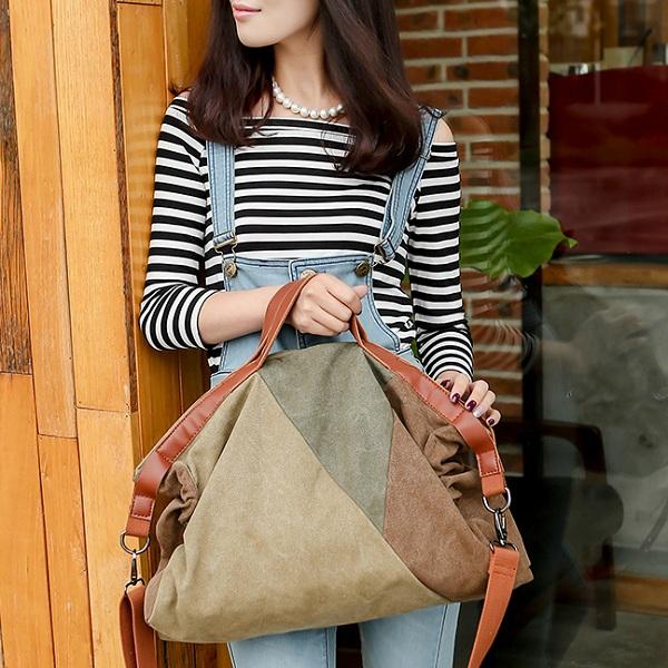 Women Quality Canvas Casual Vintage Large Capacity Handbag Shoulder Bag