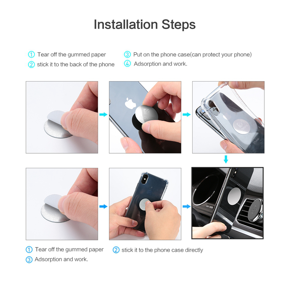 FLOVEME Cable Clip Car Air Vent Magnetic Phone Holder Aluminium Alloy Mount Stand for iPhone XS