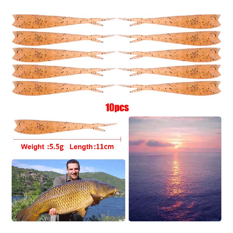 ZANLURE DWST119 45pcs/set Mixed Soft Worm Fishing Lure Bait Fish Hook Crankbaits Artificial Bait