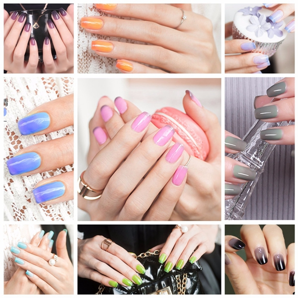 Temperature Change Color Nail Art Polish Varnish