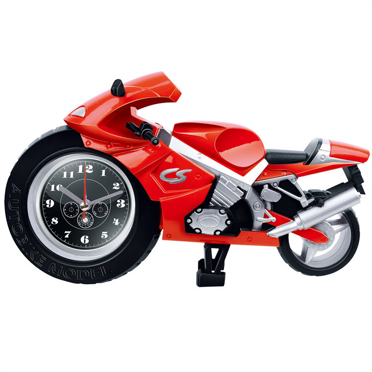 Creative Lazy Student Kids Cartoon Portable Clock Personality Bedroom Mini Clock Motorcycle Alarm Clock