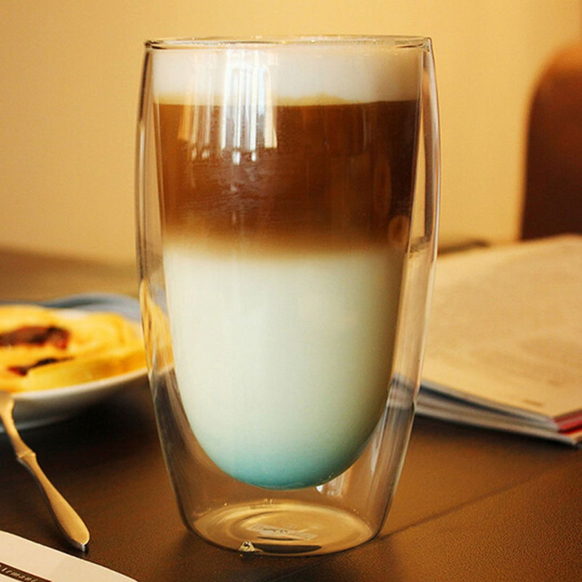 Double Wall Glass Cups Coffee Mug Heat Resistant Cappuccino Beer Milk Tea Cup