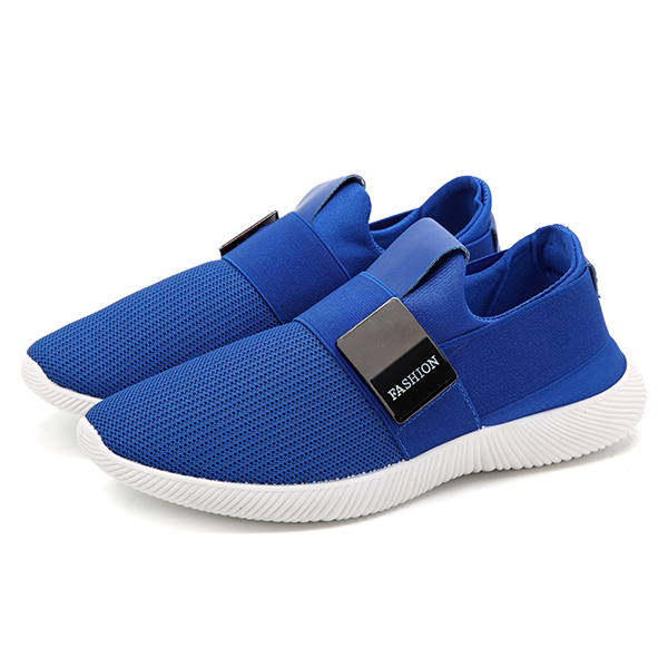 Men Casual Fabric Elastic Slip On Athletic Sneaker Sport Shoes