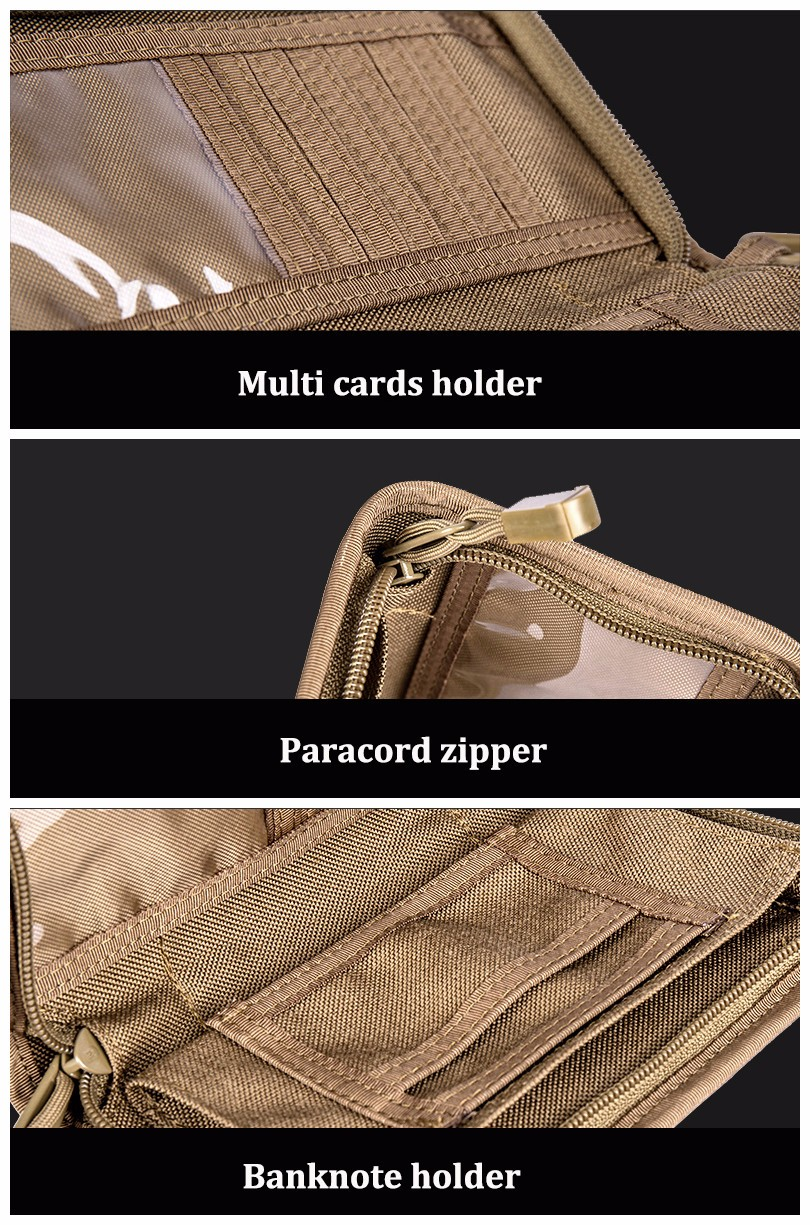 Outdoor Tactical Travel Wallet 5.5 Inch Cell Phone Pouch Card Holder Handbag