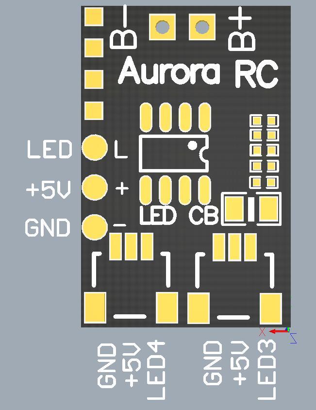 AuroraRC 8 Bits WS2812B RGB5050 LED Board 5V w/ Control Board 2-6S For F3 F4 FPV Racing RC Drone - Photo: 12