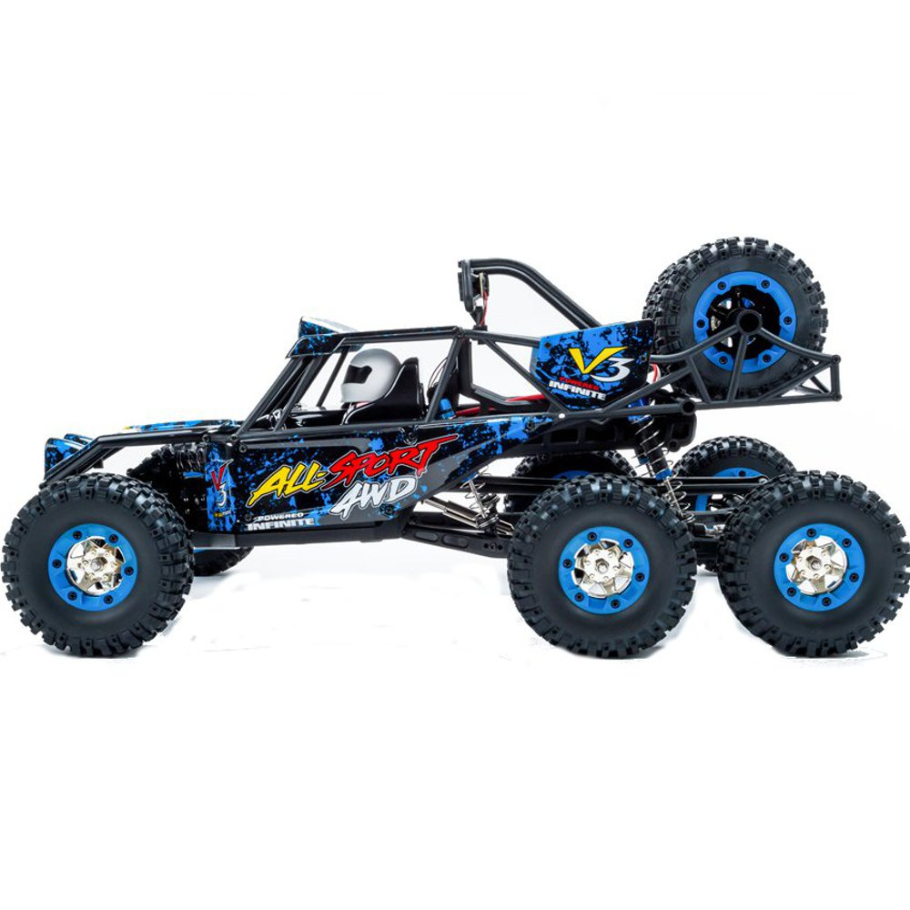 Wltoys 12628 1/12 2.4G 6WD Rc Car 550 Brushed 40km/h Rock Crawler With LED Light RTR Toy