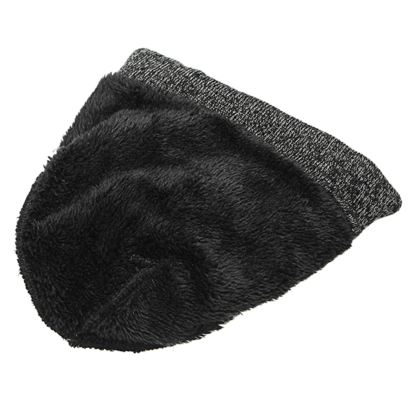 3pcs Touch Screen Gloves Thick Cap Slouchy Beanies Hat Scarf Set For Bike Motorcycle Riding Ski