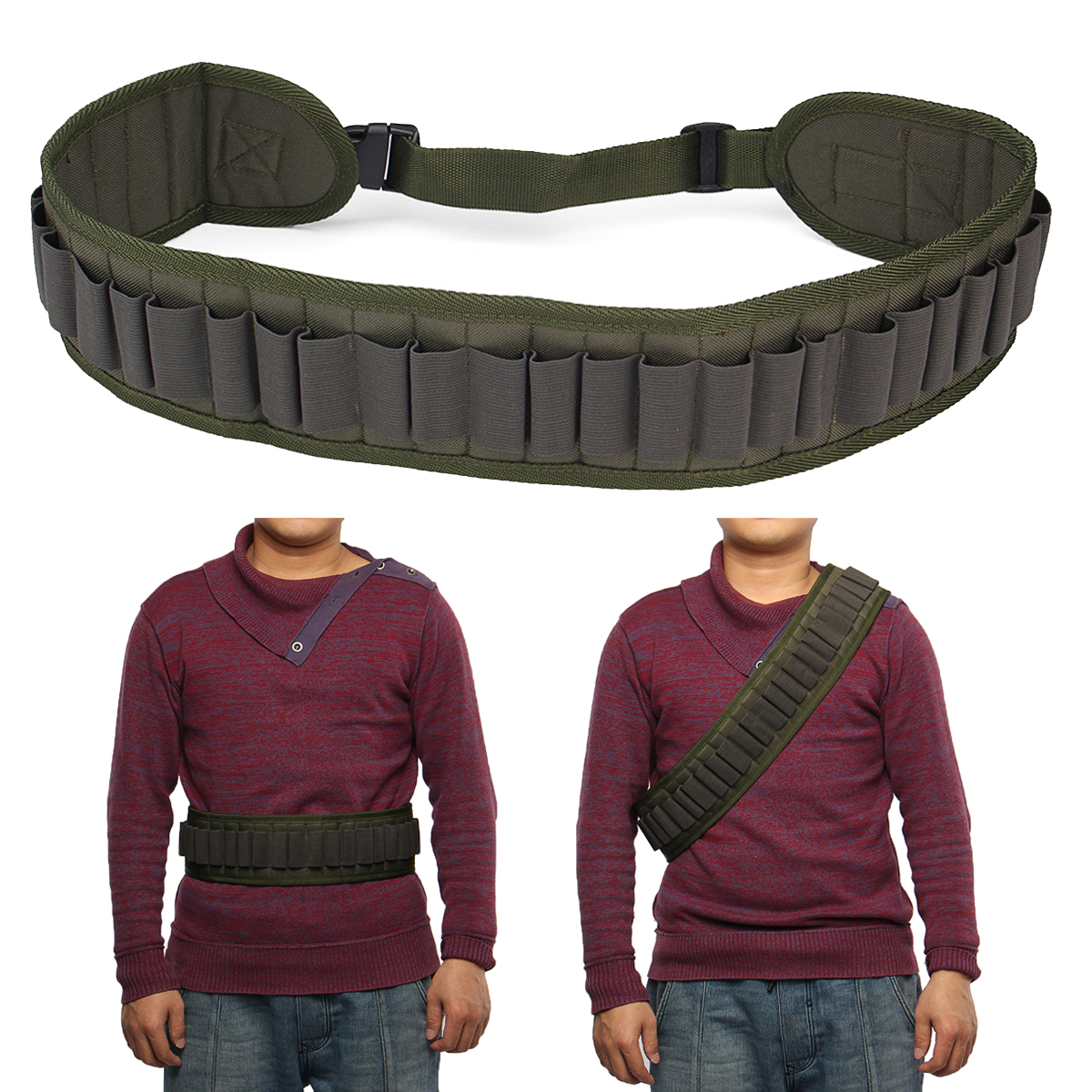 Outdoor 30 Holes Hunting Cartridge Belt Tactical Shooti