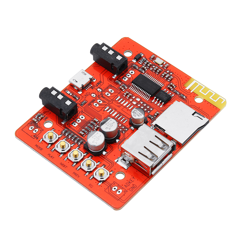 Stereo Digital Audio Amplifier Module Board Wireless bluetooth Receiver USB Adapter Support TF AUX