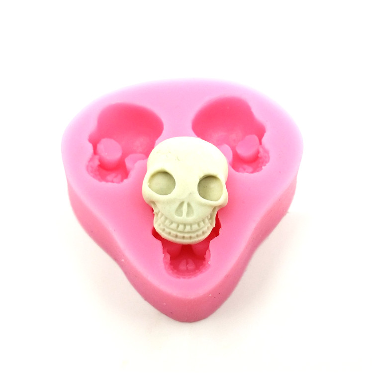 Food Grade Silicone Cake Mold DIY Chocalate Cookies Ice Tray Baking Tool Skull Shape