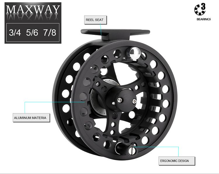 SeaKnight MAXWAY 5/6# Fly Fishing Reel 3BB Gear Ratio 1:1 Fishing Reel