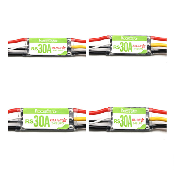 4X Racerstar RS30A 30A Blheli_S OPTO 2-4S ESC Support Oneshot42 Multishot for RC FPV Racing Drone