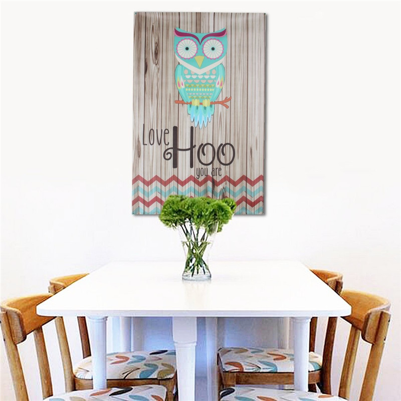 Unframed Canvas Print Home Decor Love Hoo Owl Wall Art