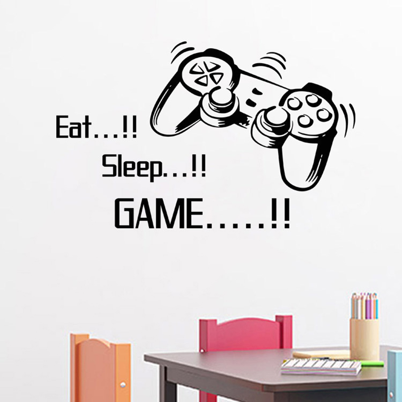 Creative Art Game Handle Wall Stickers