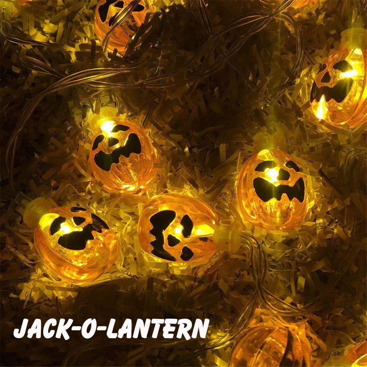 Halloween Party Jack-O-Lantern Light Pumpkin String Light Home Decor