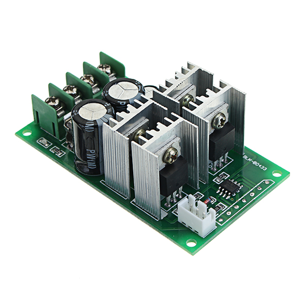 DC 6-60V 30A PWM DC Motor Speed Regulator High Power Speed Controller 6V 12V 24V 36V 48V 60V Support PLC Analog Quantity 0-5V SCM Control