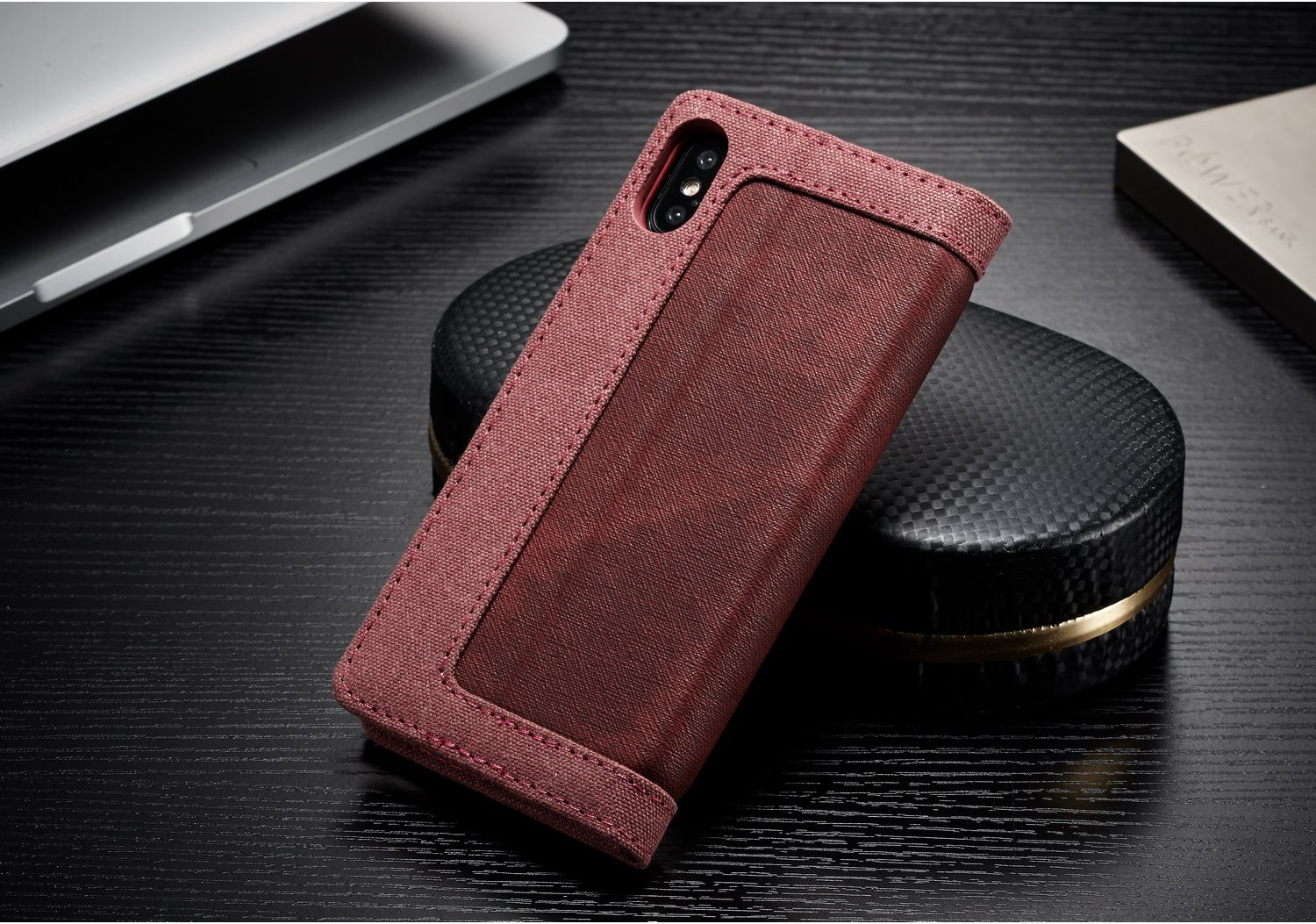 Caseme Magnetic Flip Kickstand Wallet Card Slot Protective Case For iPhone XS/X