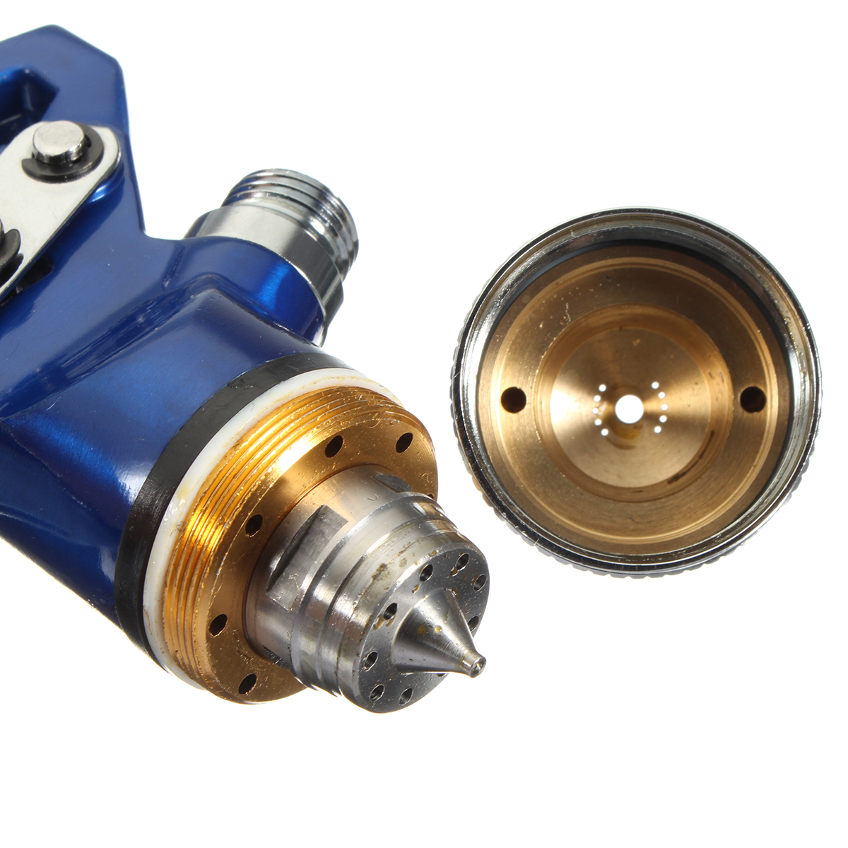 HVLP Gravity Feed Spray Tool Car Vehicle Paint 1.4MM 1.7MM 2MM Nozzle 600CC Cu