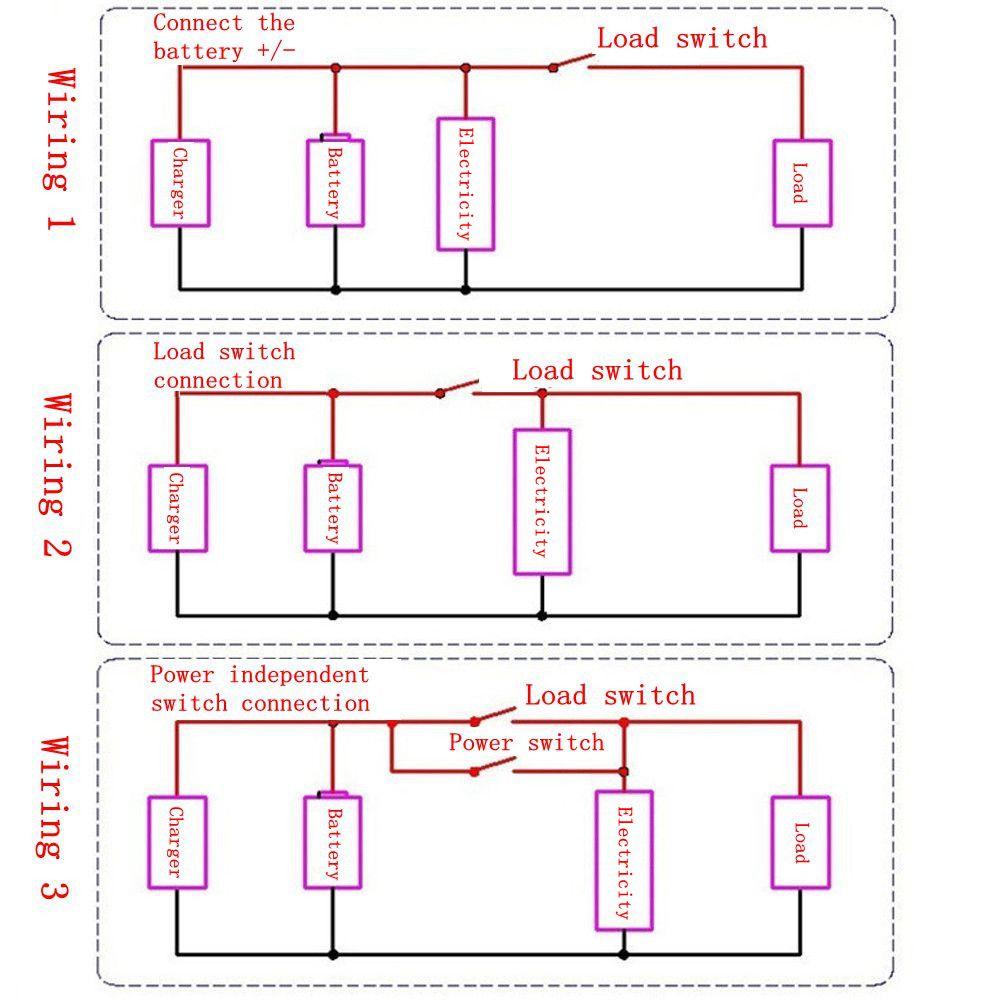 2Pcs 12V/24V/36V/48V 8-70V LCD Acid Lead Lithium Battery Capacity Indicator Board Digital Voltmeter