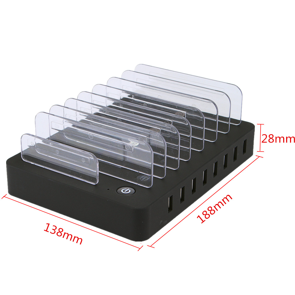 8 Port USB Multi-Function Wall Charging Station Stand for Mobile Phone