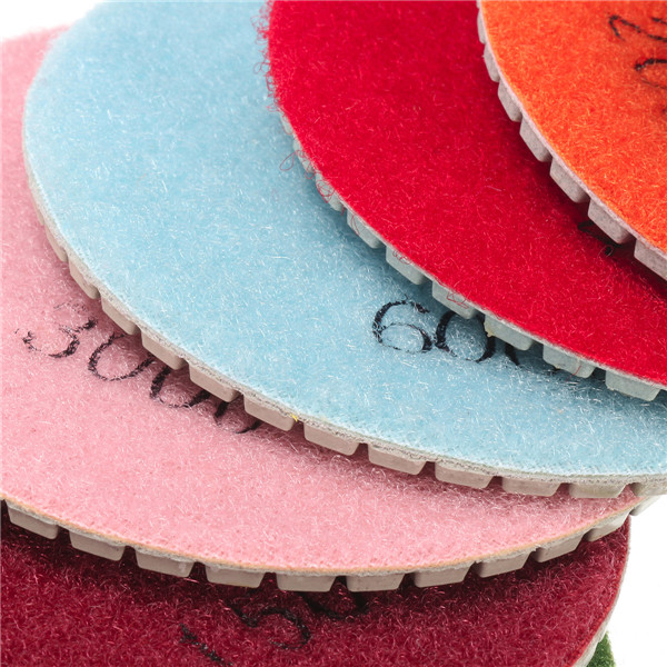 9pcs 4 Inch 50 to 6000 Grit Diamond Polishing Pads for Granite Marble Polish