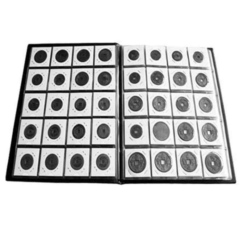 50pcs 17.5mm-40mm Coin Holders Storage Clip Paper Bags Flip 2x2 Flips Coin Collection Office Decor