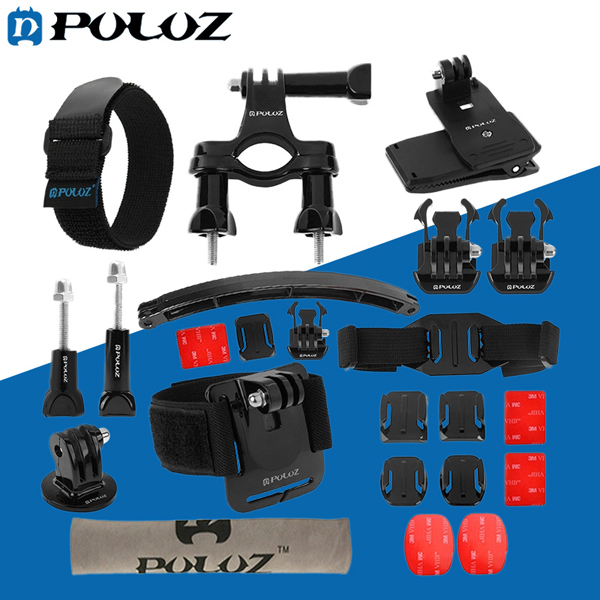 PULUZ 24 in 1 BikE Mount Accessories Combo Kit for Gopro SJCAM Yi Actioncamera