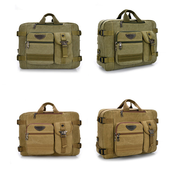 Men Women Tourism Leisure Canvas Portable Bag Multi-function Aslant Handbag Backpack