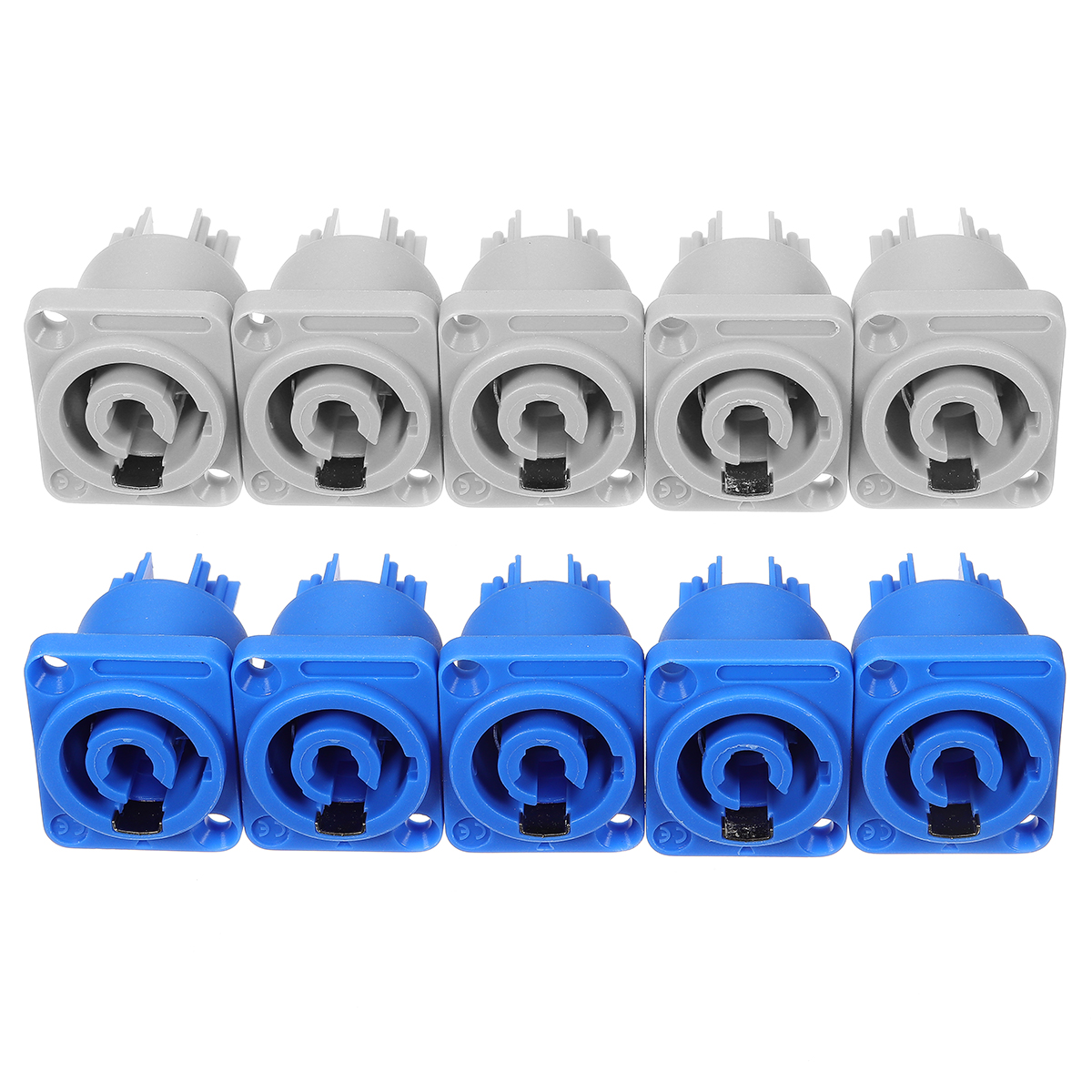 10 set Neutrik PowerCON Type A NAC3FCA+NAC3MPA-1 Chassis Plug Panel Adapter