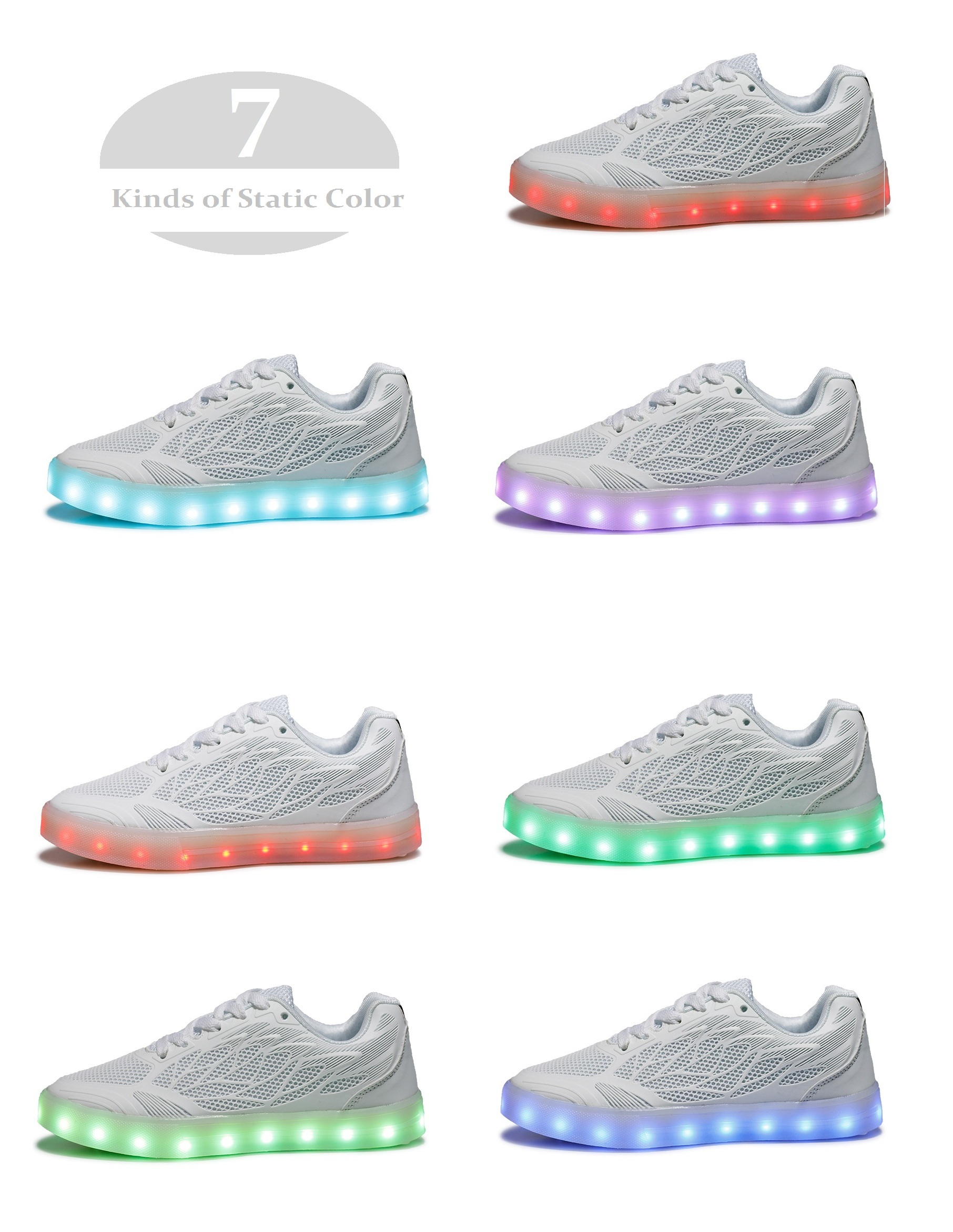 USB Led Luminous Flash Shoes for Women