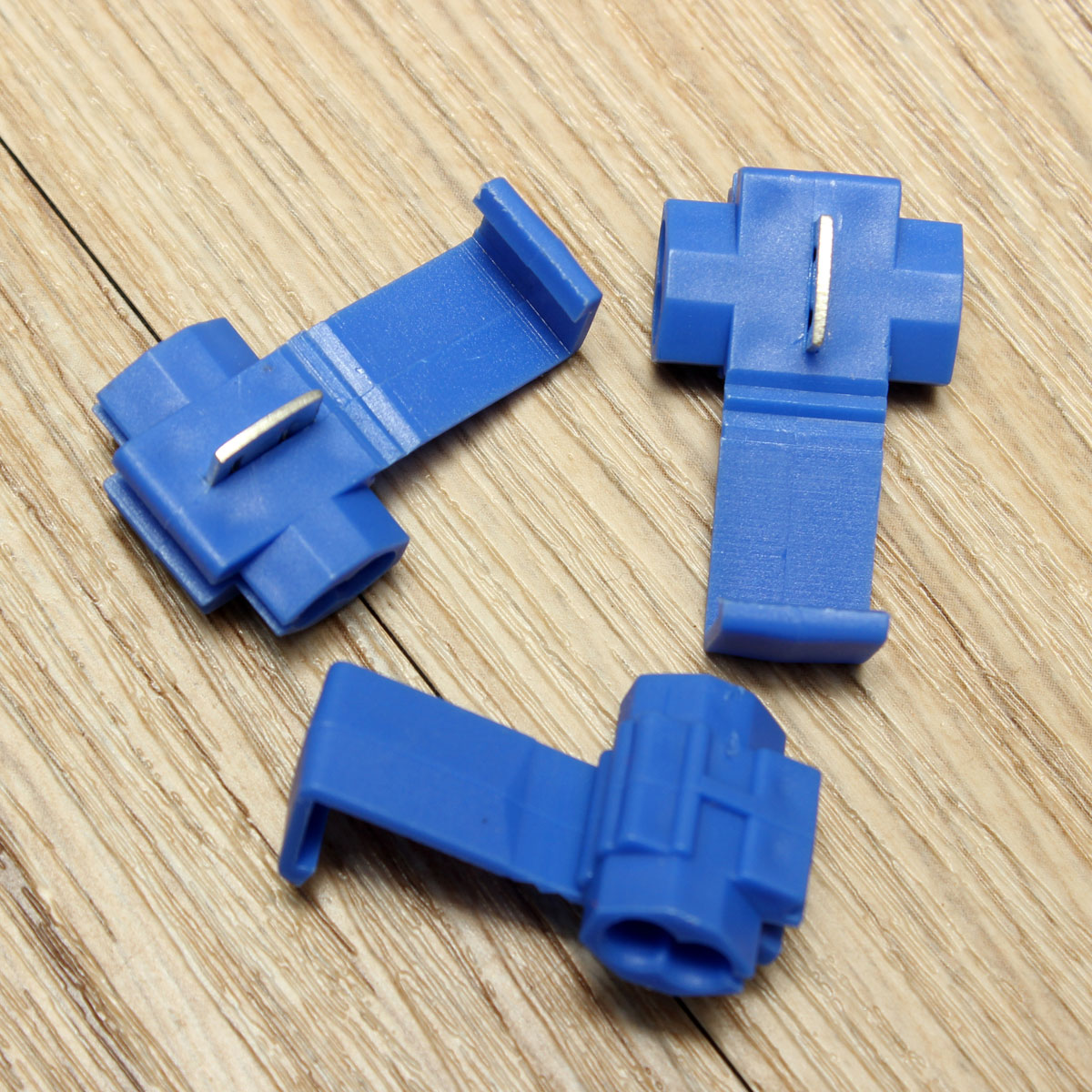 100Pcs Blue Scotch Lock Quick Splice Wire Connector Terminals