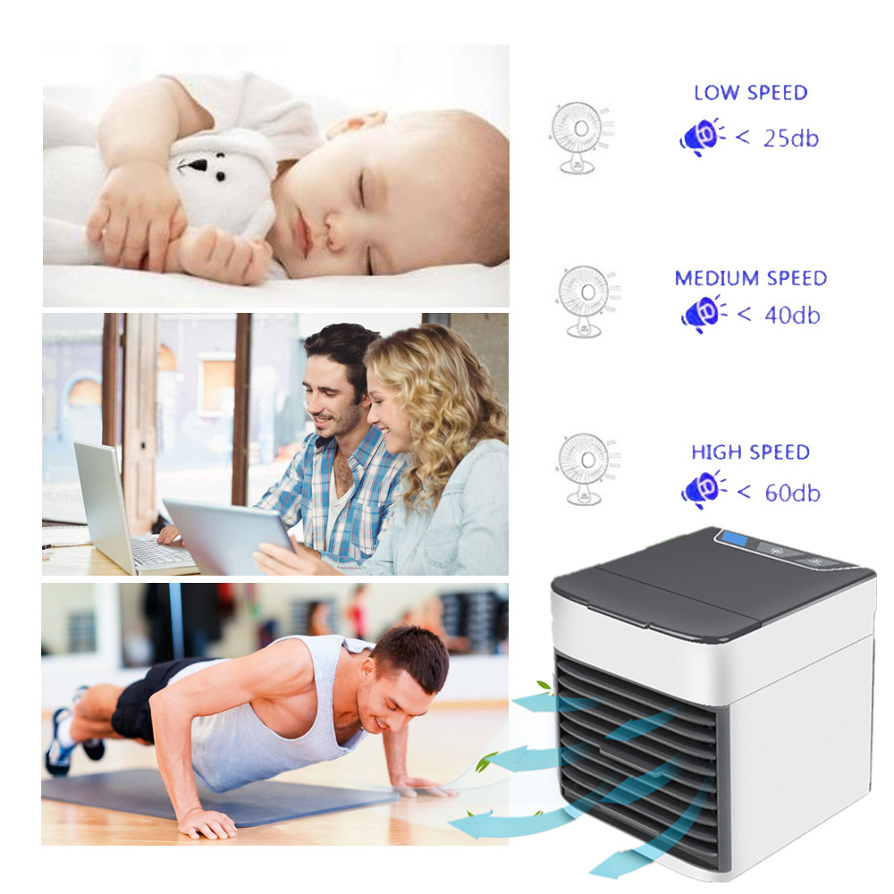Loskii BT-05 Mini Portable Multi-function Spray Air Cooler Household Fan USB Cooling Air Conditioner Dormitory Humidifier Electric Cooling Fan