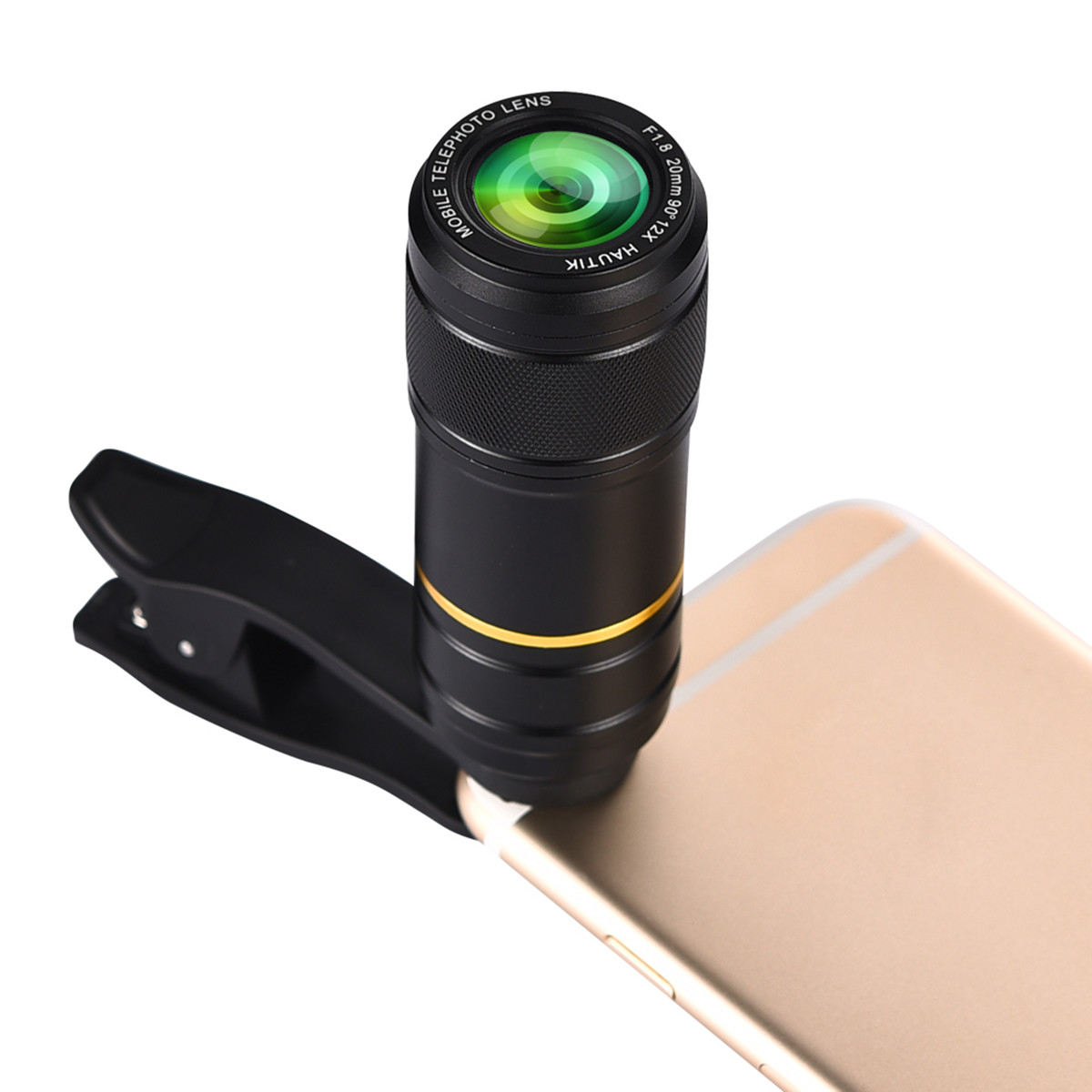 5 in 1 198° Fisheye 0.6x Wide Angle 15x Macro 12x Lens CPL Polarizer for iphone Smartphone