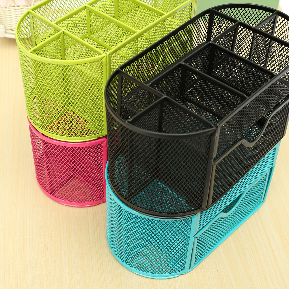 Color pen holder Metal Material Table stand box for pencil storage Stationery