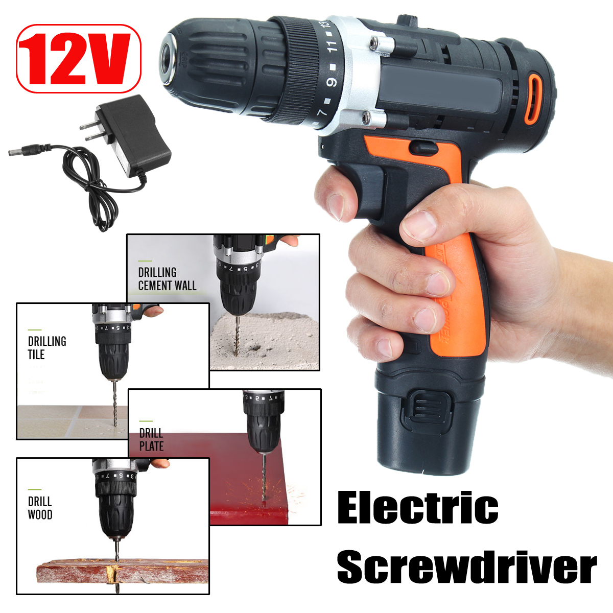 12V 3900mA Rechargeable Lithium-Ion Battery Electric Hammer Electric Screwdriver Power Drill