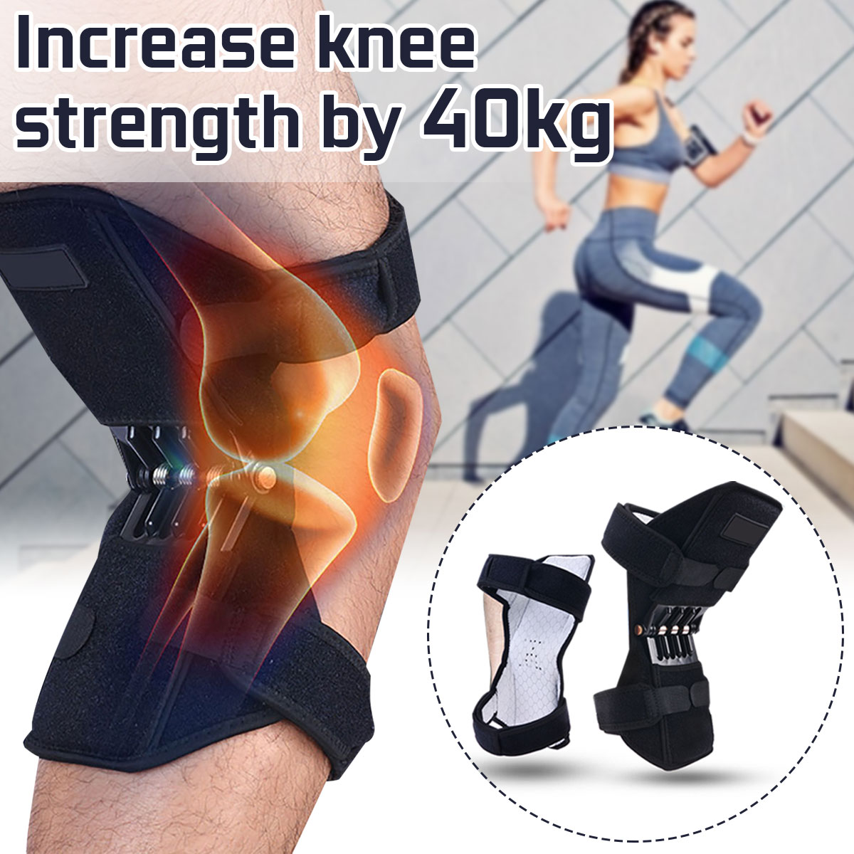 Power Lift Joint Support Knee Pad Powerful Rebound
