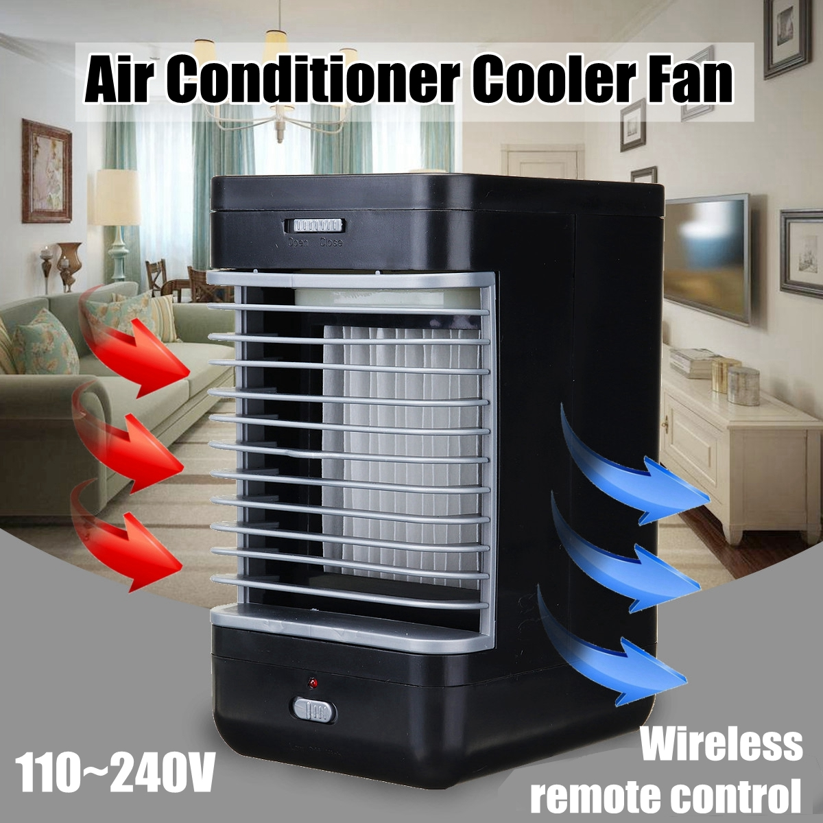 110V-240V Air Conditioner Wireless Remote Control Portable Cooler Fan System