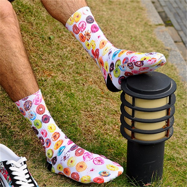 Mens Knee High Womens Funny Cosplay Mermaid Stockings 3D Printing Socks