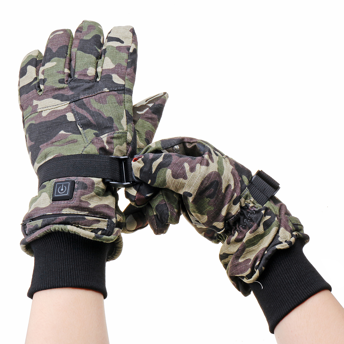 Electric Motorcycle Gloves Heater Finger Hand Warmer Rechargeable