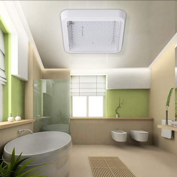 Modern 18W LED Round Square Waterproof Ceiling Light For Kitchen Bathroom