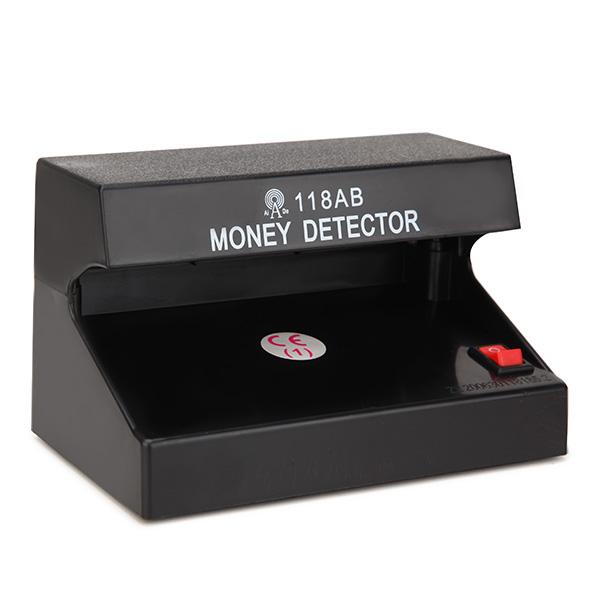 AD-118AB 110-220V Fake Money Cash Detector Checker Testing Machine with UV Blue Lamp for Shop Cashier EU Plug
