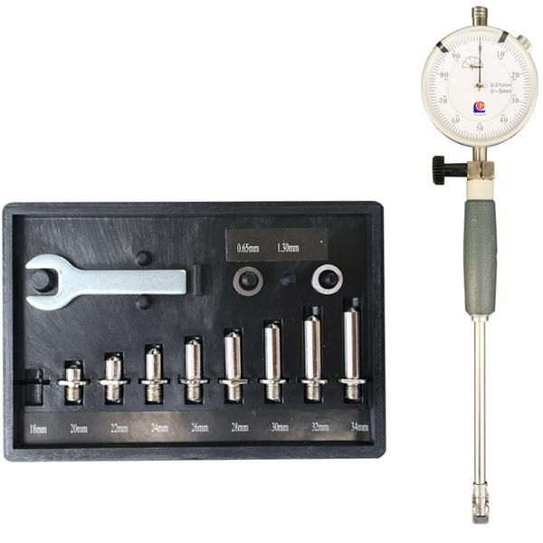 50-160mm 0.01mm Dial Bore Gauge Center Ring Dial Indicator Micrometer Gauge Measuring Tool