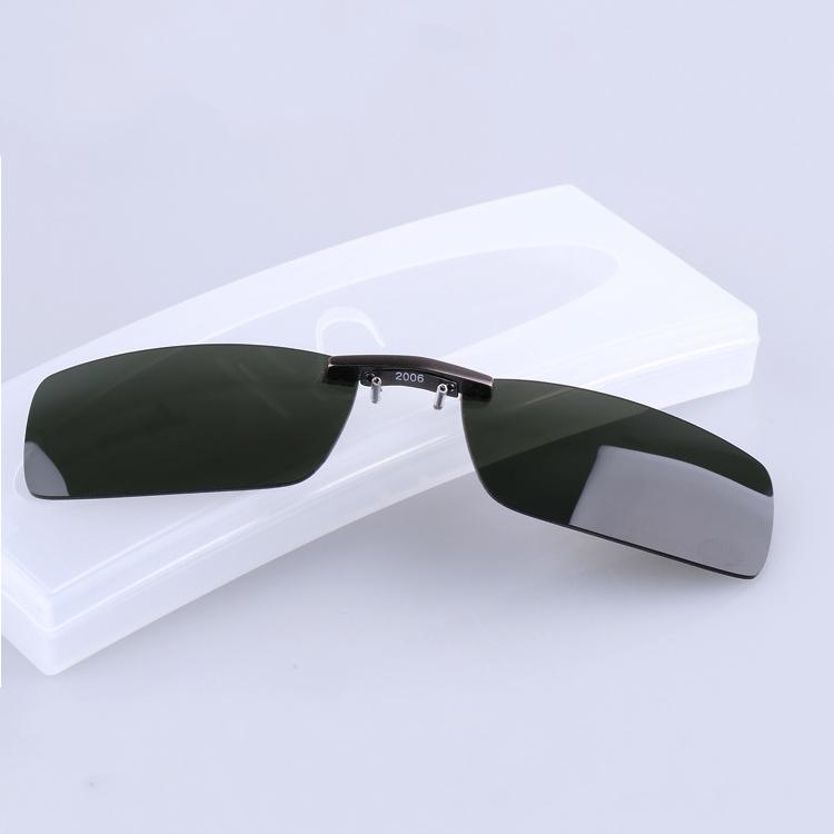 BIKIGHT Polarized Clip On Sun Glassess Men Driving Night Vision Lens Sun Glassess Male Anti-UVA UVB