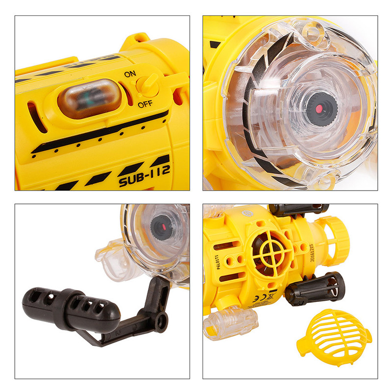 Silverlit Remote Control Infrared RC Submarine With 0.3MP Camera And Light Feed The Fish Toy For Kids