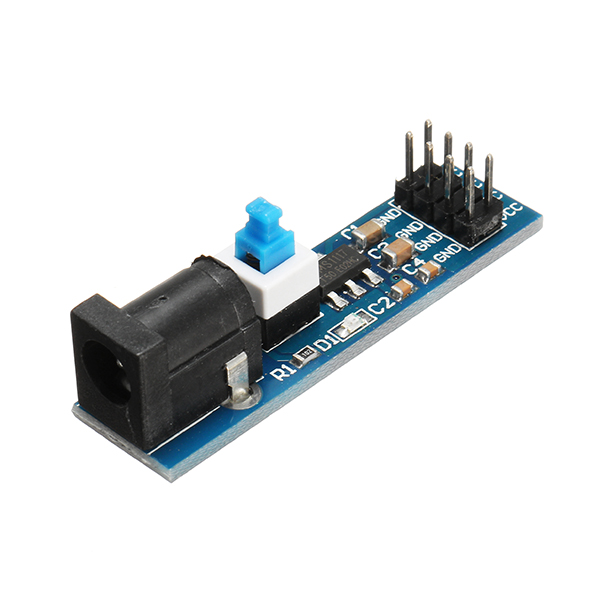 3Pcs AMS1117 5V Power Supply Module With DC Socket And Switch