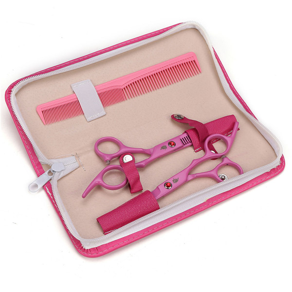 6'' Professional Hair Cutting Scissors Set Thinning Shears Barber Hairdressing Salon Tools