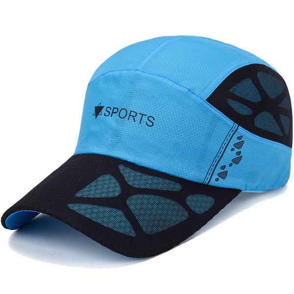 Men Quick Dry Hat Breathable Baseball Cap Sport Peaked Caps