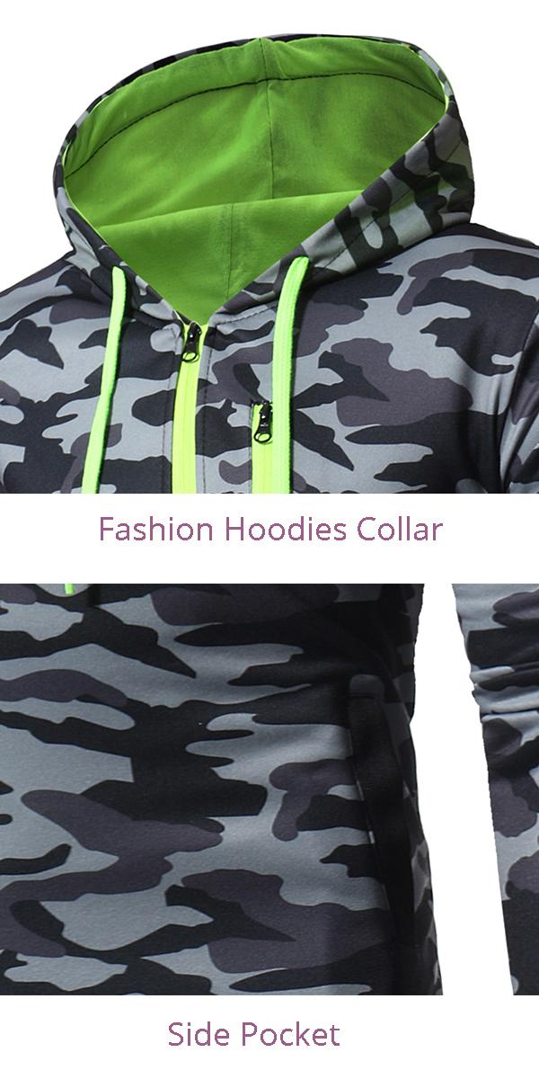 Men's Casual Fashion Snowflake Cloth Hoodies Drawstring Cuff Fitness Sweatshirt