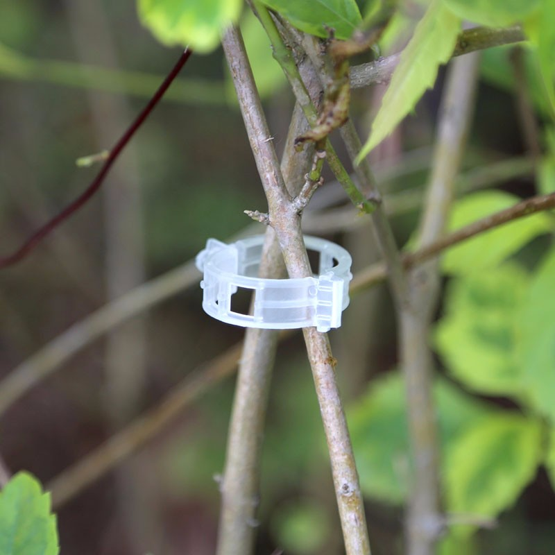 Honana HG-GT1 100Pcs Plant Clip Tomato Vines Bush Vegetable Clip Branch Durable Plastic Sling Clips