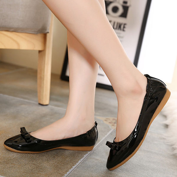 Women New Flat Pointed Toe Casual Comfortable Fashion Slip On Flat Loafers Shoes